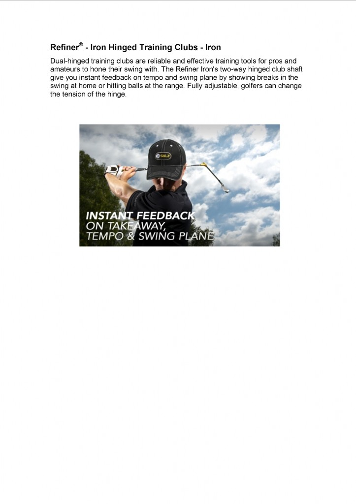 Instant feed back on your swing